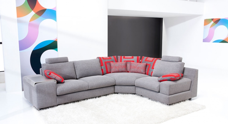 Contemporary Sectional Calisto - Famaliving Montreal